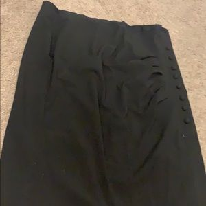 New York & Company Skirts - NWOT Ruched button skirt